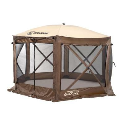 "Clam 9882 Quick Set Pavilion, 150"" x 150"", Brown/Beige"