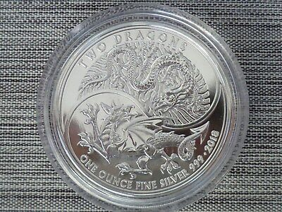 1 oz Unze Silber England Two Dragons Doppeldrache 2018 UK Großbritannien Double