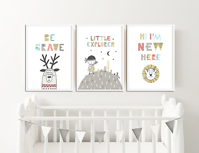 Scandinavian Nursery Prints / Pictures for Childrens Bedroom / Baby Room Decor