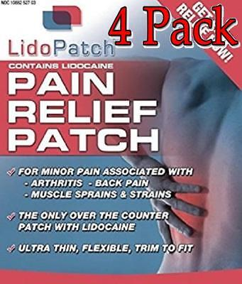 LidoPatch Pain Relief Patch Lidocaine & Menthol, 30ct, 4 Pack 791154006993S5069