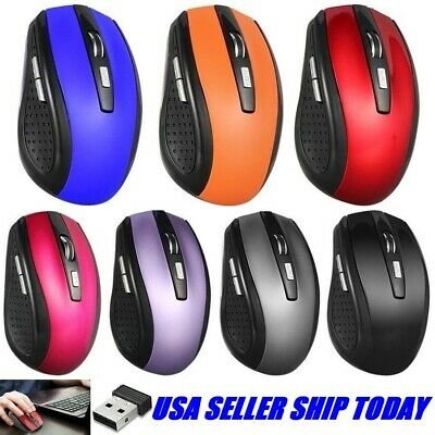 Optical Wireless Mouse Gaming Mice with USB Receiver for PC Laptop Macbook