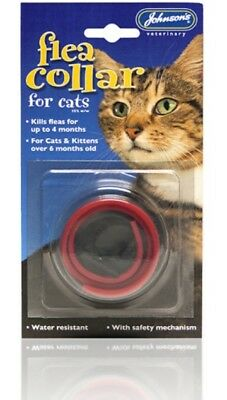 Johnsons Cat Flea Collar Waterproof, Safety Link Kills Fleas for up to 4months