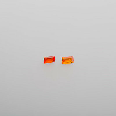opales de feu de Mexique env. 4,85 X 2,9 mm Rectangle env. 0,19 CT (30 HLM )