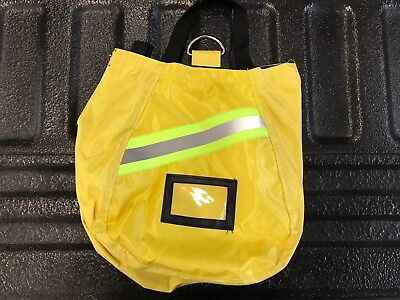 SCBA Mask Bag, 2018 Deluxe, Yellow,  Firefighter, ISI, EMT, Fire, Respirator