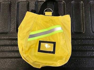 Set of 2,SCBA Mask Bag, 2018 Deluxe,Yellow,Firefighter, ISI, EMT,Fire,Respirator
