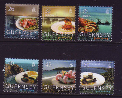 2005 Guernsey. Europa. Gastronomy. Seafood and Coastal Scenes SG 1072/77 MNH