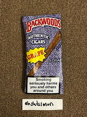 Backwoods Cigars Grape Pack of 5 AUTHENTIC discontinued vanilla banana rum