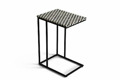 Steve Silver Kimball Chairside Table With Black and White Finish KB100SS