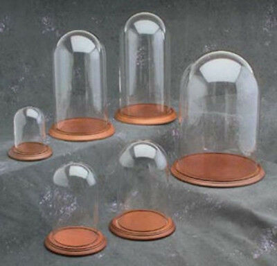 "New 3"" x 4"" Glass Display Dome and Base of Your Choice (GLD-34)"