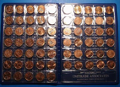 COLLECTION of Canada SMALL CENTS Coins: 1920-2012 - NICE Cdn Pennies SET! - 1¢