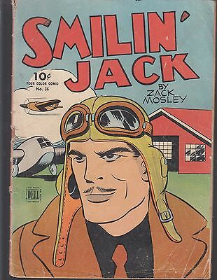 4-COLOR  SMILIN' JACK  #36  1938  by ZACK MOSLEY  WAR/ ADVENTURES  DELL..gd