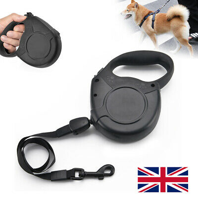 Black Extendable Retractable 8M Pet Dog Training Lead Leash Hold Max 50KG New