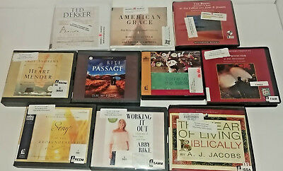 Christian Fic/non Fiction Audio Books Lot of 10 CD FREE SHIPPING Unabridged A-10