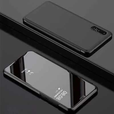 For Huawei P30 Pro Mirror View window Slim Leather Luxury Flip Stand Case Cover