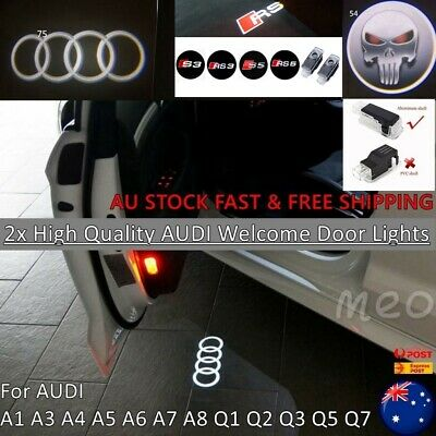 2x Logo Projector Welcome Courtesy Door Puddle Lights For Audi All Series AUS