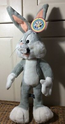 "Vintage 1995~Bugs Bunny Bendable Plush~Stuffed Animal Rabbit~23""~Warner Bros~NEW"