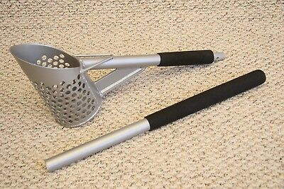 NEW 241 holes Two handle Tall Perforated Aluminum Sand Scoop