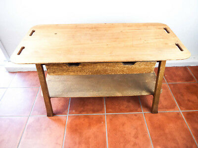 Vintage 1930s Wooden Kitchen Table Furniture Guild CA Shelf & Drawers TV Console