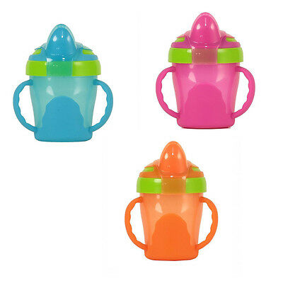 Vital Baby Soft Spout Trainer Cup With Handles - Blue, Orange or Pink