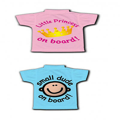 Little Princess /small Dude On Board T-Shirt Sign