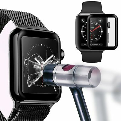 3D Full Edge Tempered Glass Screen Protector for Apple Watch iWatch 38mm / 42mm
