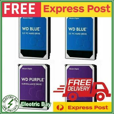 "WD RED BLUE 1TB 2TB 3TB 4TB 6TB 8TB 10TB 3.5"" SATA Internal NAS Hard Drive HDD"