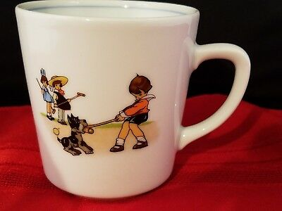 """Pier 1 Imports Child'S Mug Cup 3 1/8"""" H Made In Germany Handcrafted"""