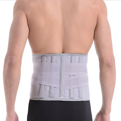 Lower Back Support Double Pull Strap Lumbar Brace Posture Belt Pain Protect New