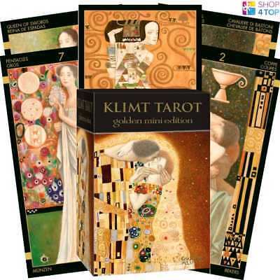 Klimt Tarot Cards Golden Pocket Edition Deck Esoteric Telling Lo Scarabeo New