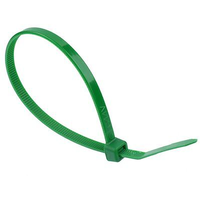 4.8mm x 300mm Green Zip Cable Tie - Pack of 100
