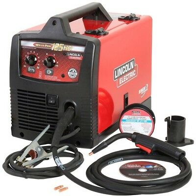 Lincoln Electric 125 Amp Weld-Pak 125 HD Flux-Cored Welder 100L Gun Magnum Pack