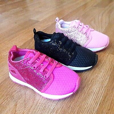New Infant Toddler Girls sneakers glitter tennis shoes 2-9