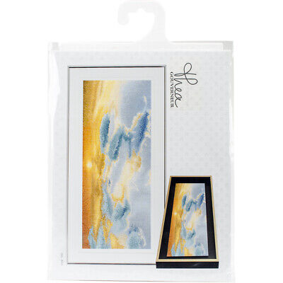 "Thea Gouverneur Sky Study IV On Aida Counted Cross Stitch Kit-5.75""X13.75"" 18 Co"