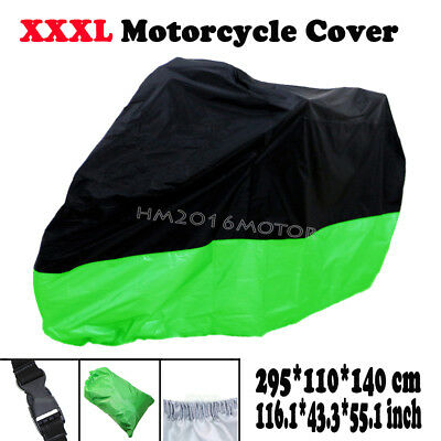 XXXL Motorcycle Cover Green Black For Harley Electra Glide Ultra Classic FLHTCU