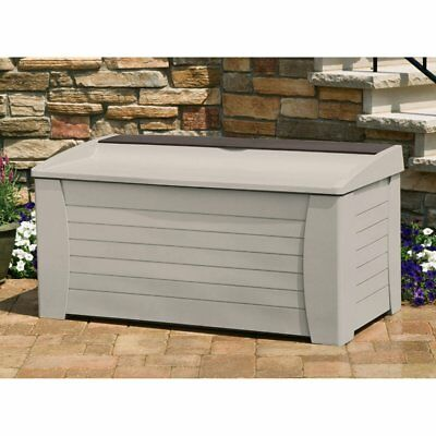 Suncast Premium 127-Gallon Deck Box with Seat and Storage Tray - DB12000 Light  sc 1 st  PicClick : door glide a67 - pezcame.com