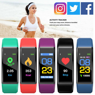 2018 Waterproof IP67 Bluetooth Smart Watch Heart Rate Monitor Fitness Tracker