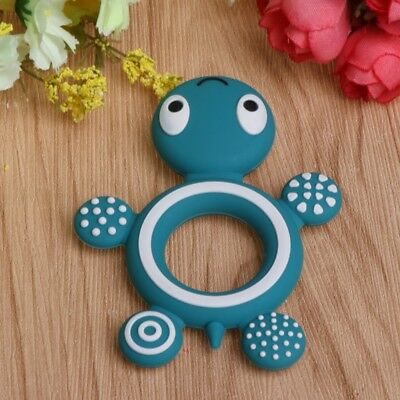 Safety Tortoise Kids Baby Silicone Soother Teether Teething Pacifier Food Grade