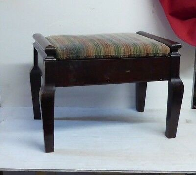 Antique Vintage Edwardian Piano Stool with Underseat Storage (height reduced)