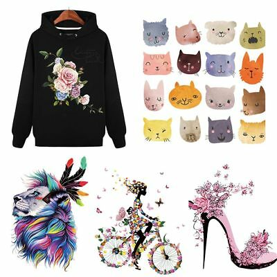 Clothes Print Heat Transfer Stickers Iron On Appliques Cartoon Patches