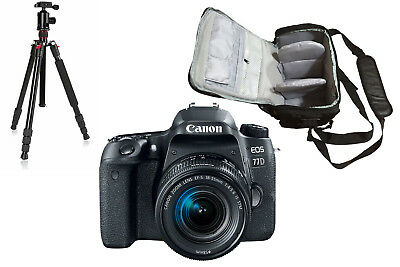 NEW Canon 77D + EF-S 18-55mm IS STM + Bag + Tripod - UK NEXT DAY DELIVERY