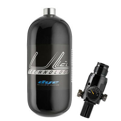 "DYE Paintball 1,2L Flasche""UL Ergo"" mit Proto 300bar Regulator"