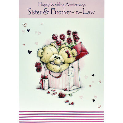 Wedding anniversary card sister and brother in law happy wedding anniversary card sister and brother in law happy greeting card m4hsunfo