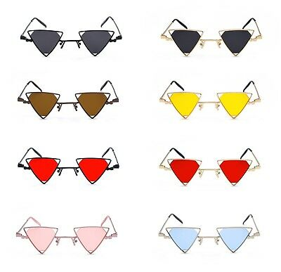 e4bbd7a885d True Vintage 90s Deadstock Triangle Steampunk Sunglasses Diamond Lenses 8  Colors
