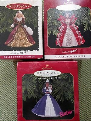 Hallmark Holiday Barbie Ornament Lot - 5 to choose from 1996-2010