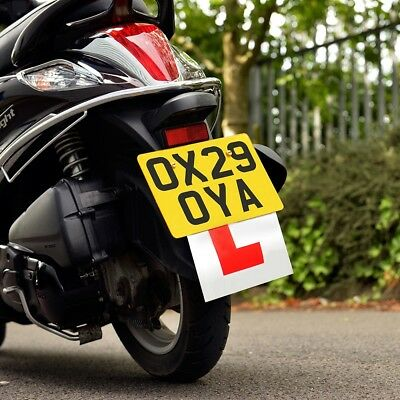 1 Oxford Motorcycle Motorbike Scooter Rigid Hard L Learner Plate OX173 - T