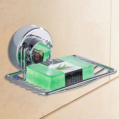 Shower Soap Holder Dish Rack Non Rust Strong Suction Stainless Steel Bathroom