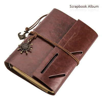 Scrapbook Album, DIY Leather Photo Album Travel Memories Album A4 Photo