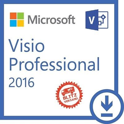 Microsoft VISIO 2016 Pro Professional Product Key ✔ MS® VISIO ✔ 60 SEC LIEFERUNG