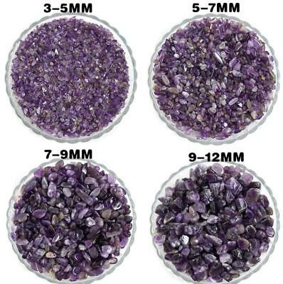50 Natural Amethyst Raw Ore Gravel Purple Crystal Crushed Stone Degaussing