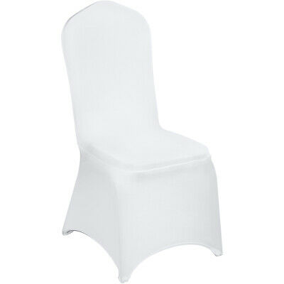 Fantastic 100Pcs Stretch Spandex White Folding Chair Covers Seat Evergreenethics Interior Chair Design Evergreenethicsorg